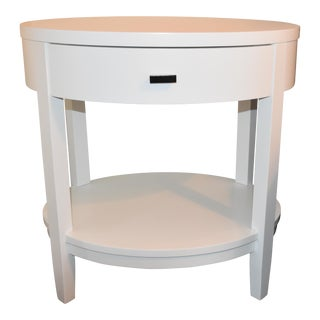 Crate & Barrel Arch White Oval Nightstand