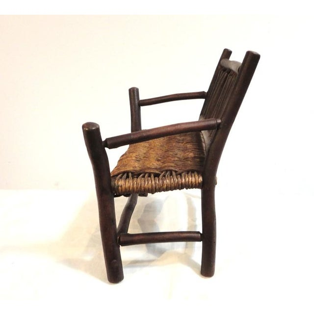 Salesman Sample Old Hickory Settee W/ Original Woven Seat - Image 5 of 6