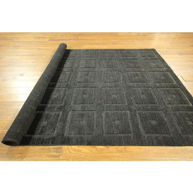 "Square Black Gabbeh Kashkuli Rug - 6'8"" x 10' - Image 10 of 10"