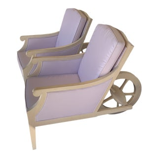 Philippe Stark Wheel Barrow Chairs - A Pair For Sale
