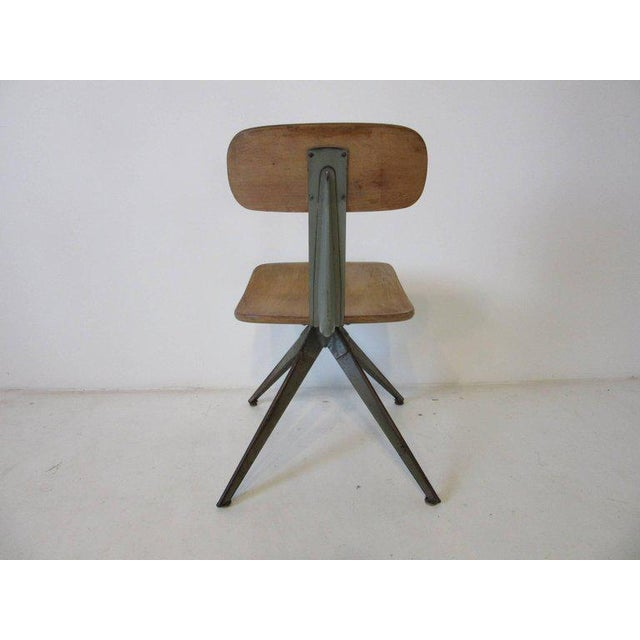 Mid-Century Modern Splayed Leg Industrial Desk Chair in the Style of Prouve or Olsen For Sale - Image 3 of 6