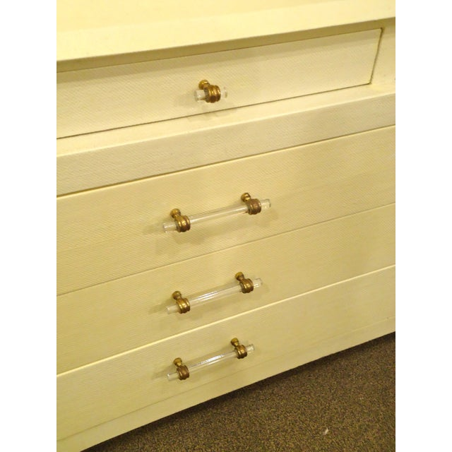 Karl Springer Style Linen Wrapped Chest - Image 2 of 4