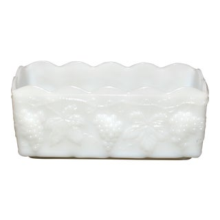 Anchor Hocking Fire King Milk Glass Planter For Sale