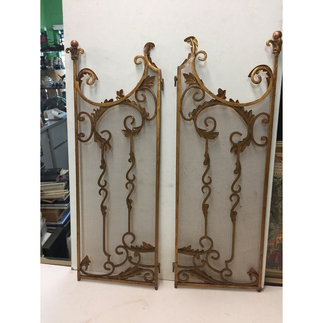 Ornate Fireplace Screen For Sale - Image 9 of 12