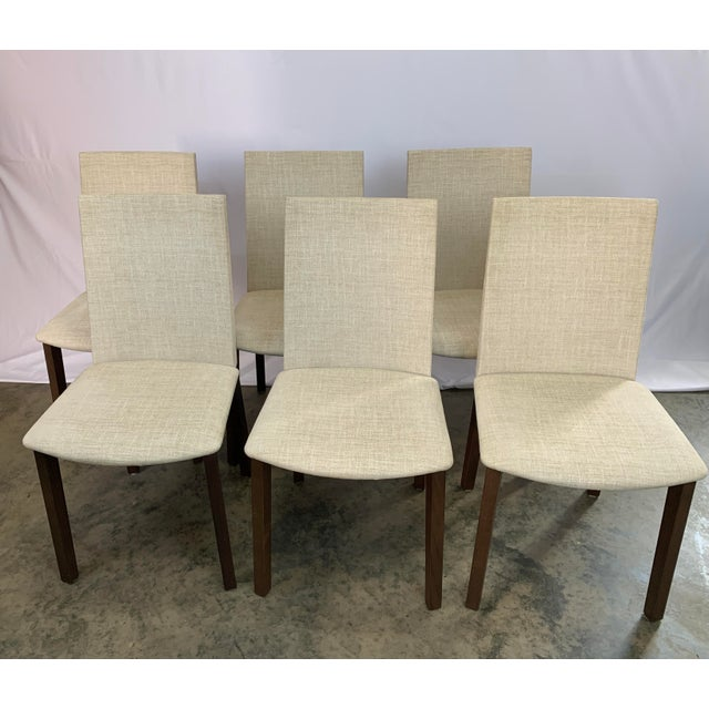 2010s Danish Modern Skovby Extended Dining Table and Six Chairs -- 7 Pieces For Sale - Image 5 of 12