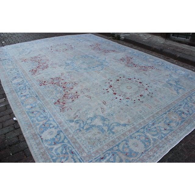 Islamic Vintage Tabriz Wool Rug - 10′ × 14′1″ For Sale - Image 3 of 10
