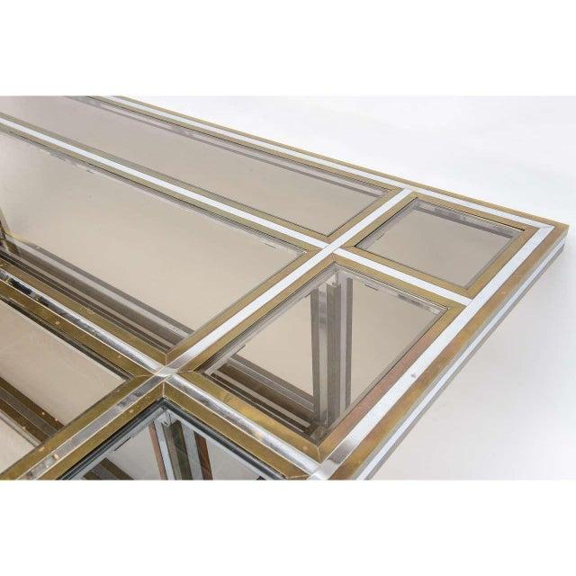 Romeo Rega Brass and Chrome Coffee Table - Image 4 of 5