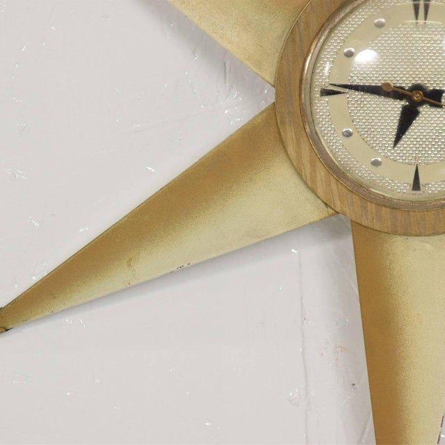 1960s Mid-Century Modern Star Electric Clock Bilt Rite Mfg Co For Sale - Image 5 of 11