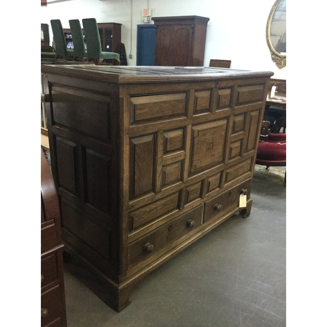 Welsh Oak Mule Chest Circa 1820 For Sale - Image 4 of 9