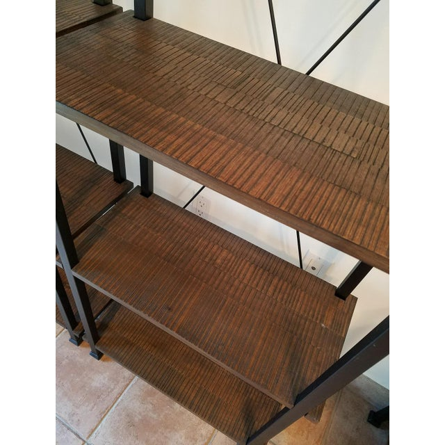 Vintage Modern Rustic Bookcases - A Pair - Image 4 of 4