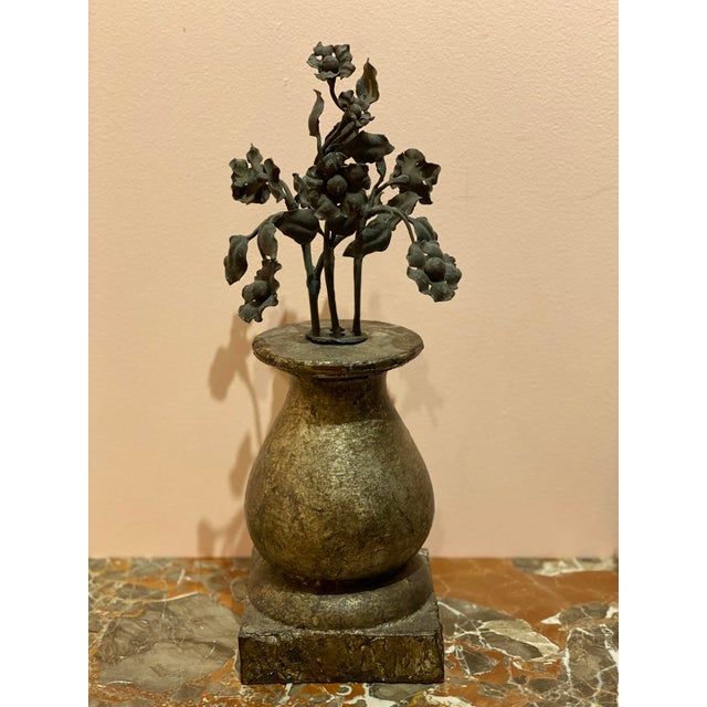 French Country 19th Century Finials With Iron Decoration - a Pair For Sale - Image 3 of 7