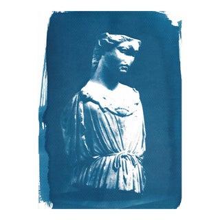 Roman Female Bust Cyanotype Print For Sale