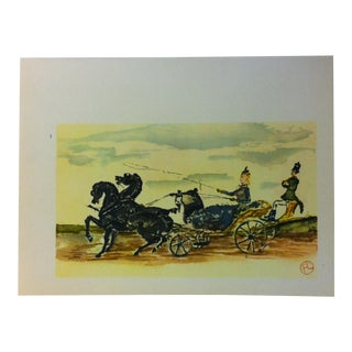 "Circa 1980 ""Nice Promenade Des Anglais 1879-1880"" Color Print of a Toulouse-Lautrec Drawing For Sale"