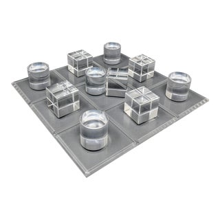 Acrylic Decorative Tic-Tac-Toe Game For Sale