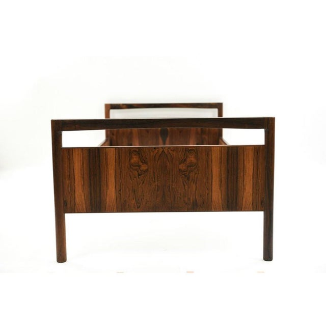 Danish Modern Mid-Century Danish Modern Rosewood Twin Size Bed Frame - A Pair For Sale - Image 3 of 13