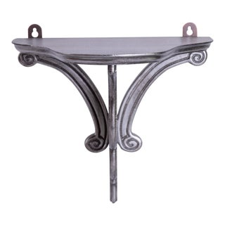 Madcap Cottage Silvered Wood Shelf Bracket For Sale
