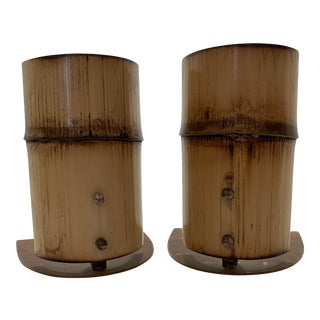 Carl Aubock Bamboo Bookends - A Pair For Sale