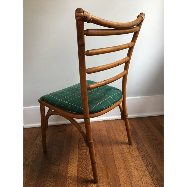 1940s Boho Chic Scorched Bamboo Accent Chair For Sale In Savannah - Image 6 of 13