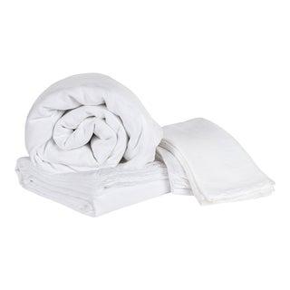 Matteo Vintage Linen White Queen Sheet Set - 4 Pieces For Sale