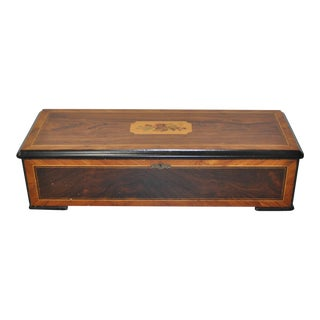 Late 19th C. Music Box w/ Inlay For Sale