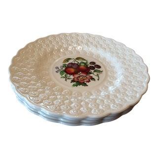 """Vintage Copeland Fruit & Floral Spode 9"""" Plates - Set of 4"""