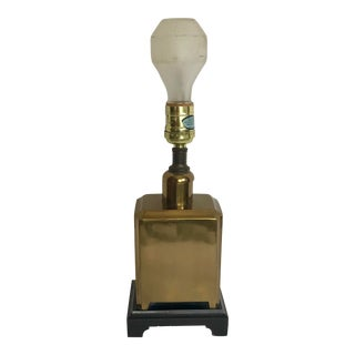 Vintage Chinoiserie Inspired Brass Table Lamp For Sale