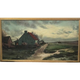 Vintage Landscape Oil Painting by E. B. Aborn For Sale