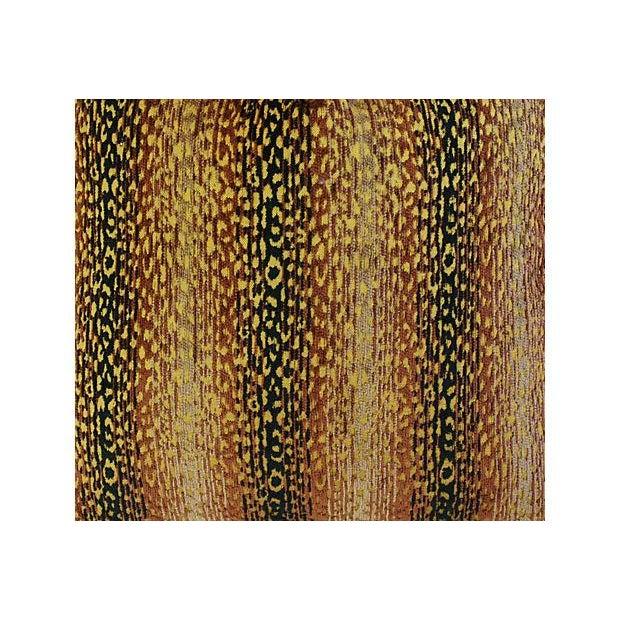 Designer Big Cat Velvet & Chenille Pillows - Pair - Image 5 of 8