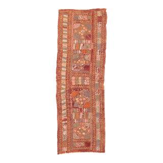 Vintage Embroidered Arabi Kilim Runner For Sale