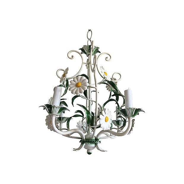 1950s Italian Daisies Chandelier For Sale - Image 4 of 8