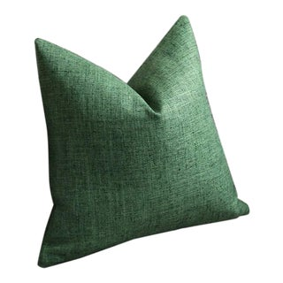 Dark Green Woven Pillow Cover 18x18 For Sale