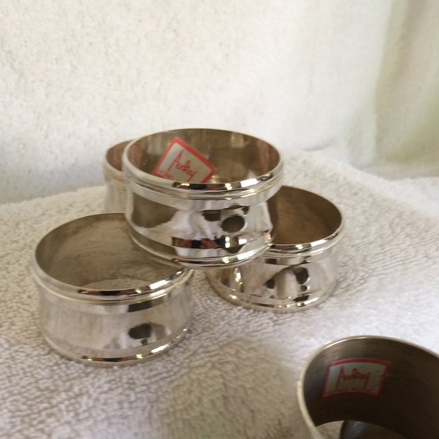 Two Sets of Aukey Silver Plated Napkin Rings - Group of 9 For Sale In Sacramento - Image 6 of 12