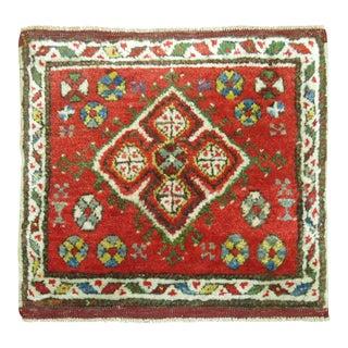 Vintage Turkish Konya Square Rug Mat For Sale