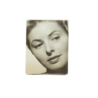 Vintage Ingrid Bergman Headshot Photograph For Sale