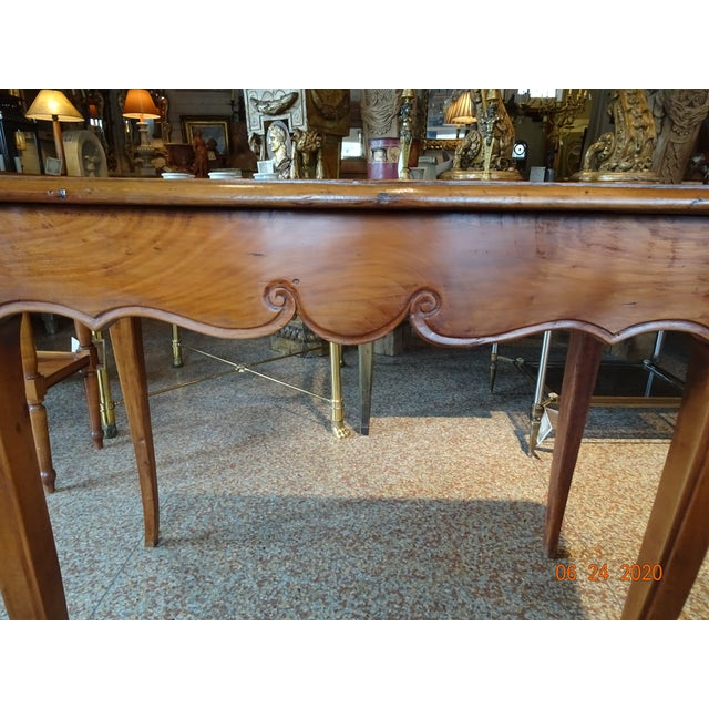 French 18th Century French Walnut Table For Sale - Image 3 of 13
