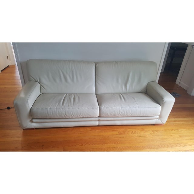 Animal Skin Roche Bobois Leather 3-Seat Sofa For Sale - Image 7 of 7