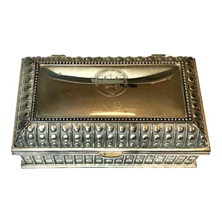 Mid-Century Silver Box For Sale