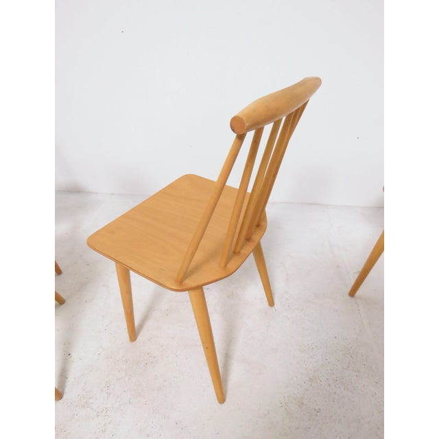 Wood Set of Four Folke Palsson for Fdb Mobler, Denmark Dining Chairs, Circa 1975 For Sale - Image 7 of 11