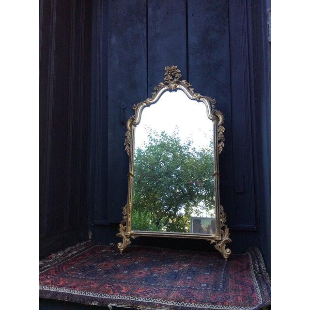 Antique Italian Gilt Carved Gold Mirror - Image 9 of 11