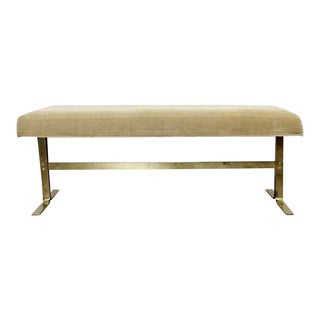 Mid Century Modern Milo Baughman for Dia Brass Bench Seat 1970s For Sale