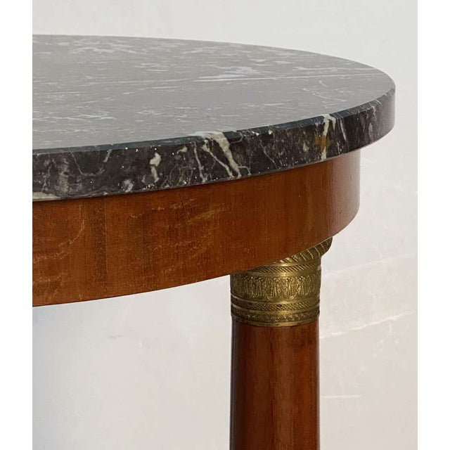Brown French Marble-Top Table or Guéridon in the Empire Style For Sale - Image 8 of 13
