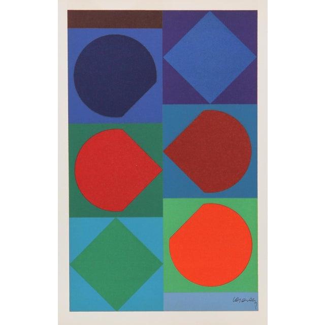 Artist: Victor Vasarely, Hungarian (1908 - 1997) Title: Beryll from Souvenirs de Portraits d'Artistes Jacques Prevert Le...