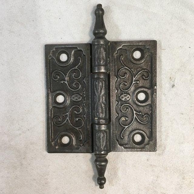 Antique Victorian Eastlake Steeple Tip Door Hinges - Set of 7 For Sale In Washington DC - Image 6 of 11