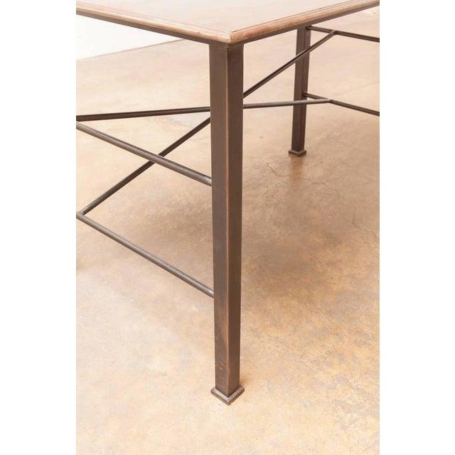 Brown Modern Industrial Steel Desk Work Table For Sale - Image 8 of 9