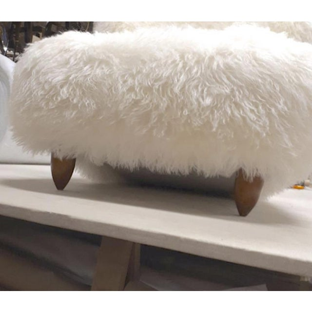 Annie Hieronimus for Cinna Pair of Chair Covered in Mohair Faux Fur For Sale - Image 6 of 8