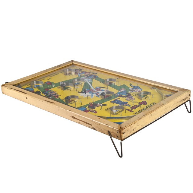 Traditional Early 1900s Poosh-M-Up Jr. Bagatelle Pinball Game For Sale - Image 3 of 4