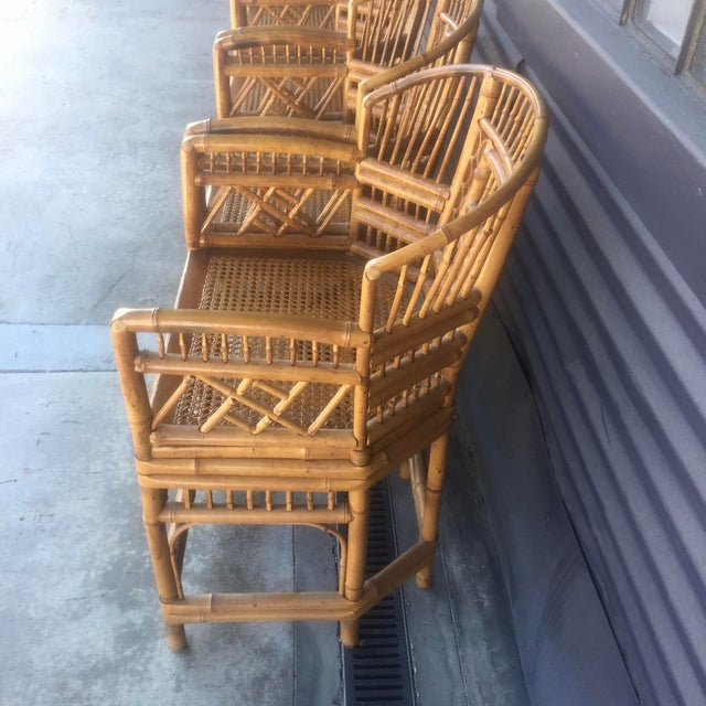 Vintage Brighton Style Rattan Chairs- Set of 4 - Image 8 of 9
