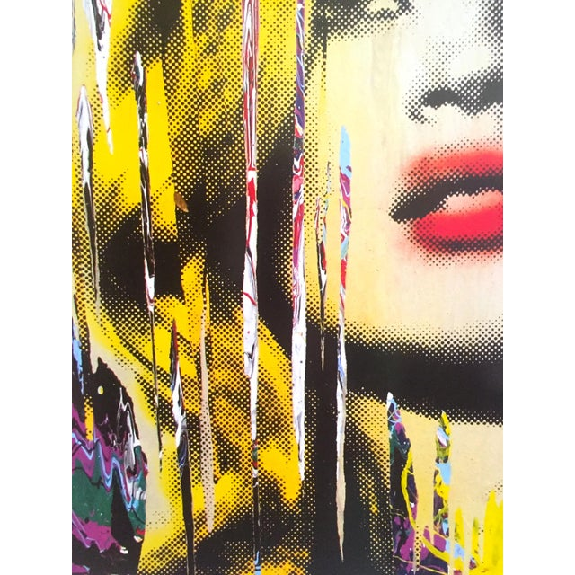 """Paper Mr. Brainwash """" Kate Moss """" Rare Authentic Lithograph Print Pop Art Poster For Sale - Image 7 of 13"""