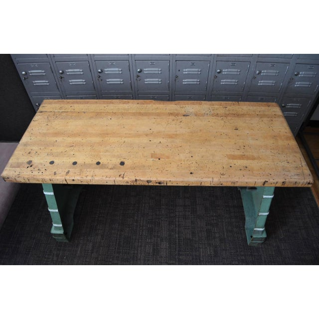 Industrial Maple Top Work Table - Image 2 of 10