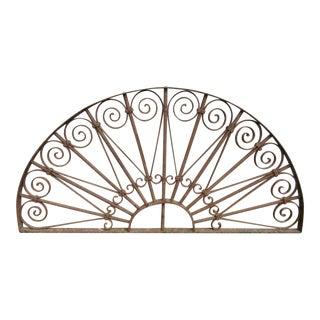 Antique Victorian Iron Garden Gate Window Element # 807 For Sale